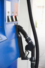 Close up of gasoline pump