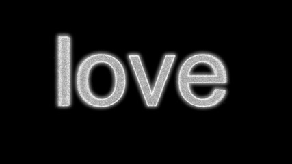 The phrase 'True Love' made from exploding sparks.