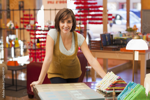 Hispanic woman shopping in store