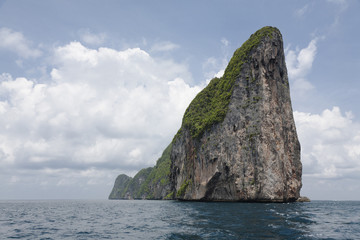 Large rock formation in ocean