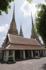 Spires of Phra Chedi Roi cloister