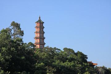 Old Chinese pagoda