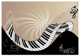 music background with piano keyboard