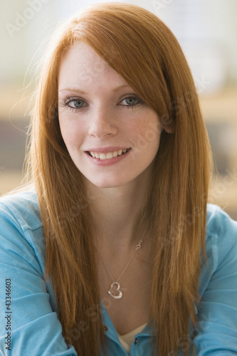 Smiling Caucasian teenage girl