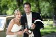 Hochzeitspaar-Feiern