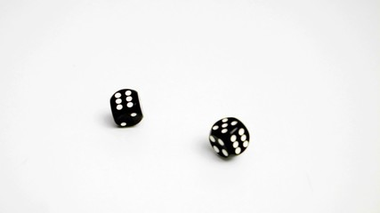 Make a double six in slow motion with dices