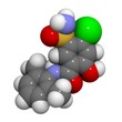 Xipamide Molecule - Chemical Structure