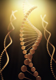 Molecule of DNA. 3d render