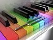 The multicoloured piano