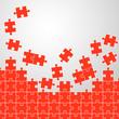 Puzzleteile Hintergrund rot
