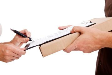 paket unterschreiben