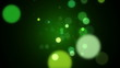 Green particle retro background.