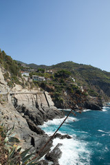 Cinque Terre - road of love.  Liguria, Italy