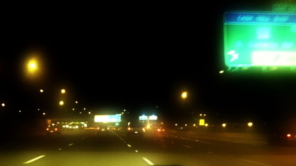 Orlando Fl Night Driving Time Lapse