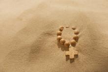 Tappa tron radband på öken religion symbol metafor