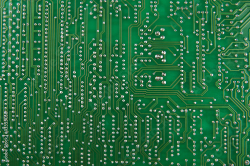 Green circuit board macro background
