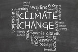 climate change word cloud poster