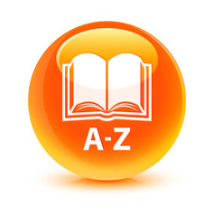 A-Z Book Orange Button