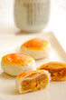 Egg yolk cakes, traditional asian pastry.