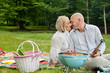 Loving Couple On An Outdoor Picnic