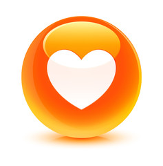 Love Orange Button