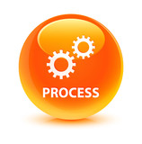 Process Orange Button