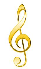Violinschlüssel Metall gold