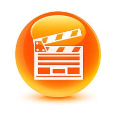 Video Clip Orange Button