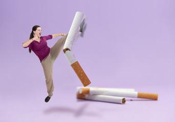 Combat contre la cigarette