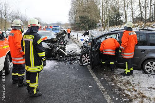 Verkehrsunfall Winter