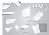 Etikette Set Origami