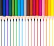Crayons et traits de couleur