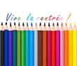 Crayons de couleur vive la rentrée