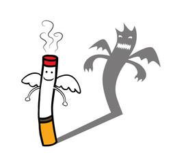 Evil cigarette