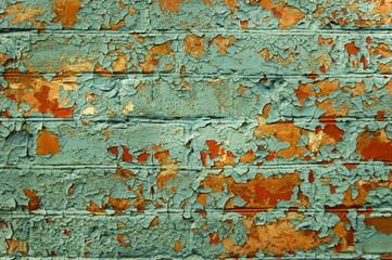 Old painted brick wall.