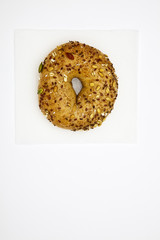 One multigrain bagel