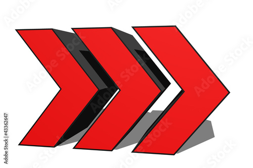 3D Red Racing Chevrons