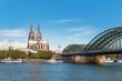 Leinwanddruck Bild - View of Cologne over the Rhein