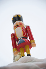 Close up of Christmas nutcracker toy