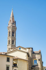 The Badia Fiorentina, an abbey and church at Florence, Italy
