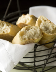 Basket of Bread Chunks
