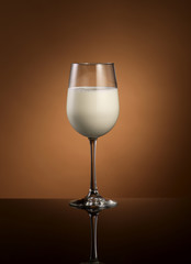 Milk served in wine glass