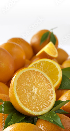 Oranges in pile