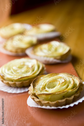 Array of apple tarts