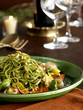 Linguini pasta with zucchini romesko