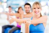 Fototapete Exercising - Gymnastik - Kleine Gruppe