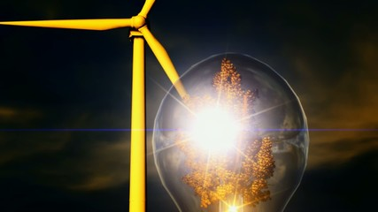 Clean energy concept footage