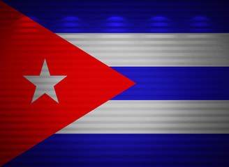 Cuban flag wall, abstract background