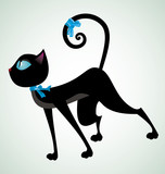 Black-cat-with-blue-ribbon