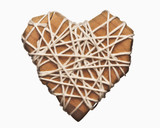 Wooden heart wrapped in string